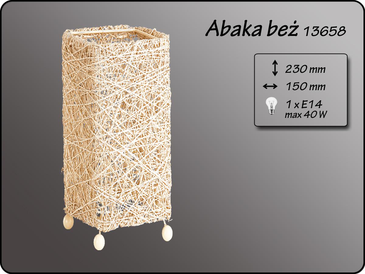 ALFA • ABAKA BEZ, asztali lámpa, ALFA