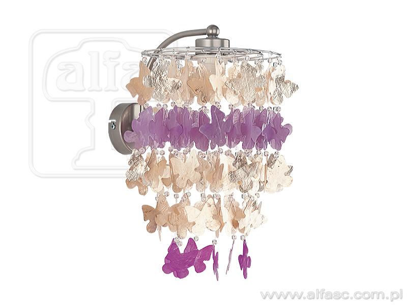 ALFA • CONCHA, fali lámpa, pillangós, lila, ALFA