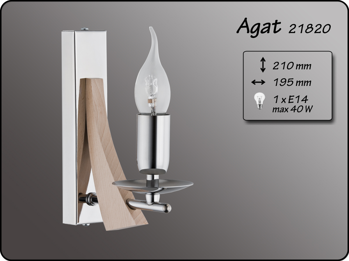 ALFA • AGAT, fali lámpa, ALFA