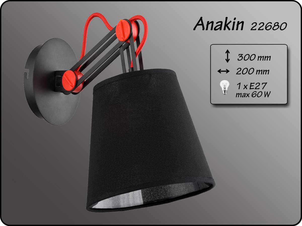 ALFA • ANAKIN BLACK, fali lámpa, ALFA