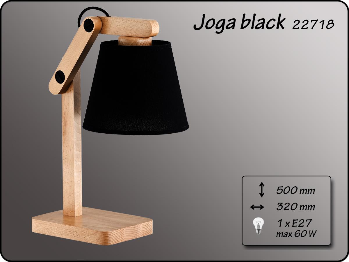 ALFA • JOGA  BLACK, asztali lámpa, ALFA