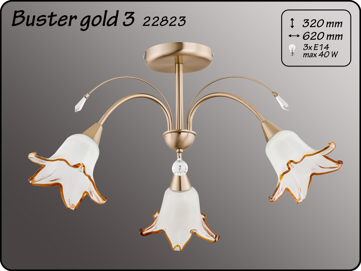 ALFA • BASTER GOLD II, 3 ágú mennyezeti csillár, ALFA