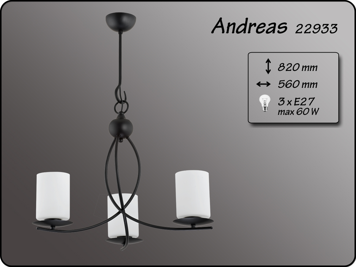 ALFA • ANDREAS, 3 ágú csillár, ALFA