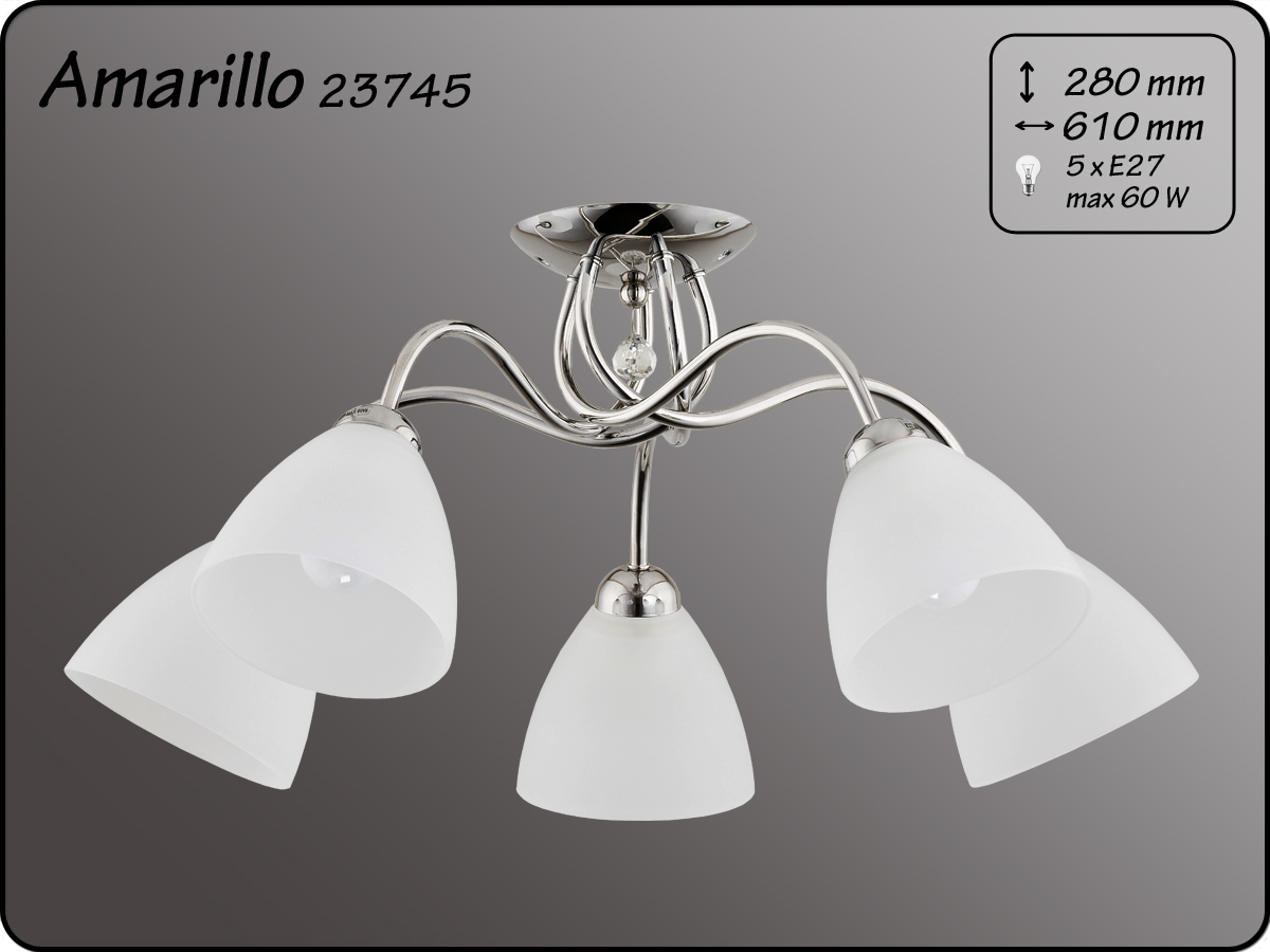 ALFA • AMARILLO CHROM, 5 ágú mennyezeti lámpa, ALFA