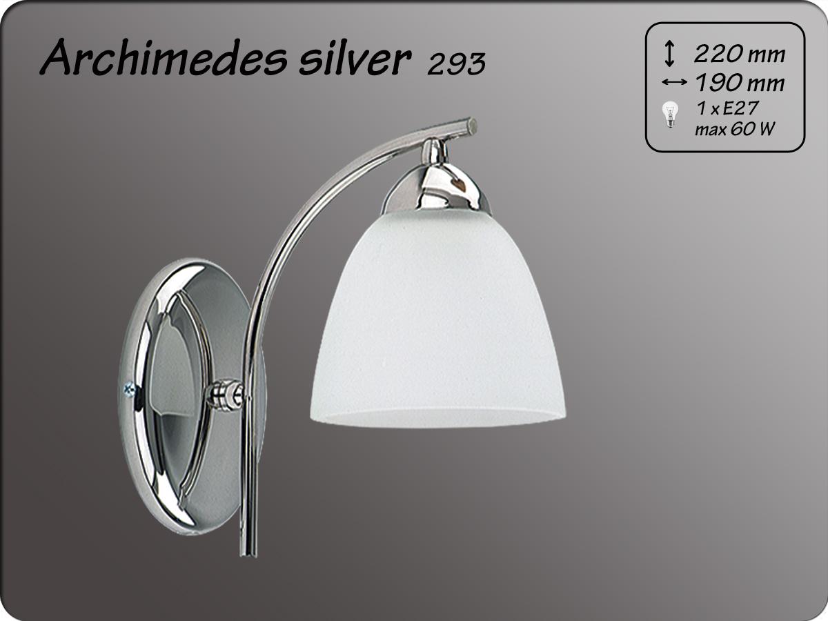 ALFA • ARCHIMEDES SILVER, fali lámpa, ALFA