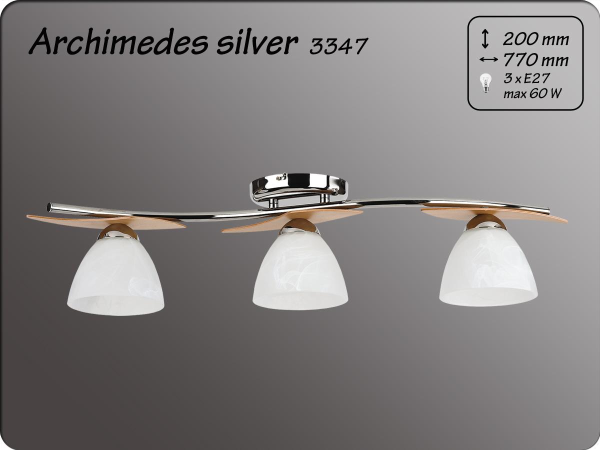 ALFA • ARCHIMEDES SILVER, 3 ágú mennyezeti lámpa, ALFA