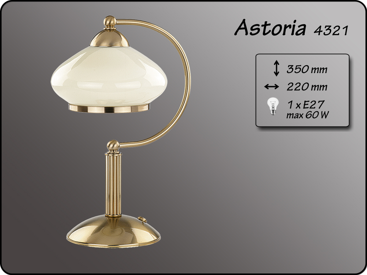 ALFA • ASTORIA, asztali lámpa, ALFA